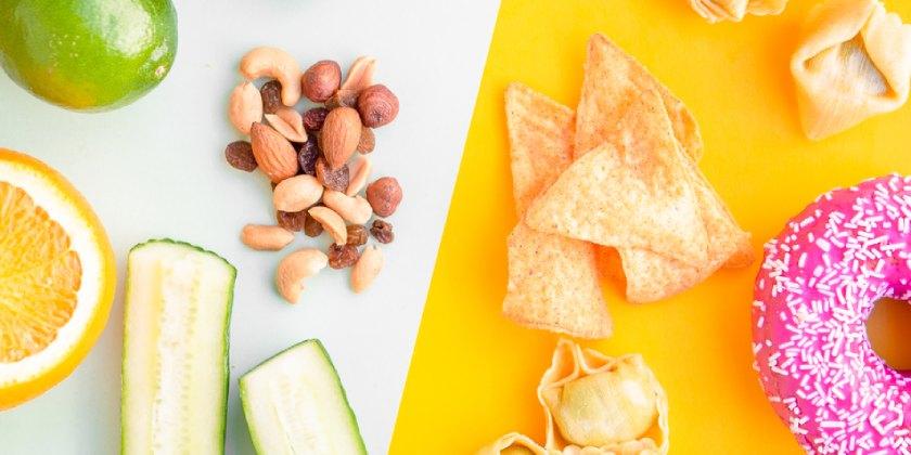 comida sana y no sana