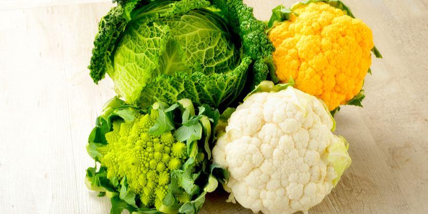 Brócoli, coliflor y repollo