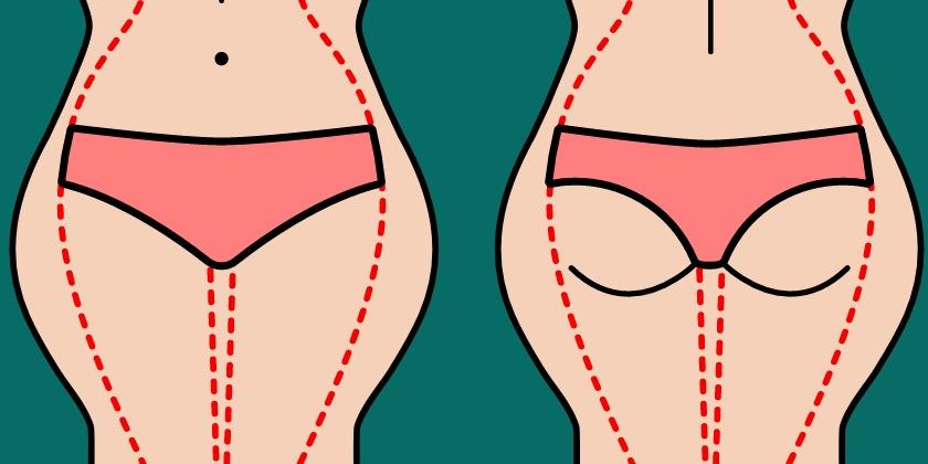 Ilustración que muestra cartucheras en un cuerpo de mujer.